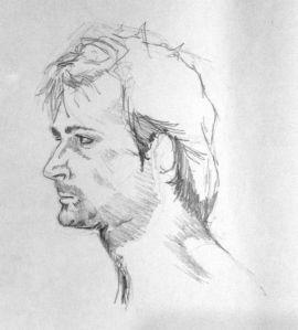 Portrait during life class, 20 mins