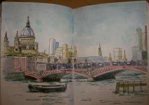 St Pauls and Blackfriars Bridge