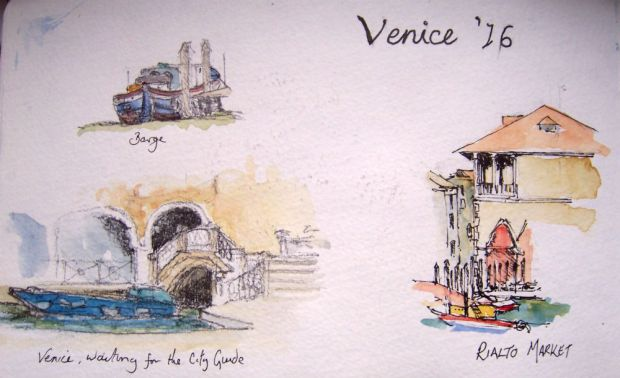 Quick sketches of Venice