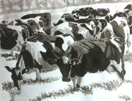 Cows ink